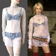 NEW DOLCE & GABBANA white floral lace VINTAGE 2001 DRESS size UK 12 US 8 44 DG