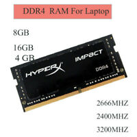 4 Go 8 Go 16 Go pour Kingston HyperX Impact DDR4 2666 2400Mhz 3200Mhz Laptop RAM