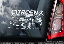 Citroen WRC-Coche Etiqueta De La Ventana-World Rally Championship Team DS3 signo