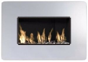 Royal 600 Hole in the Wall Gas Fire 3.5kw - Glass Mirror Frame (5 Year Warranty)