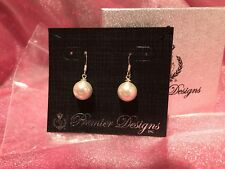 Premier Designs Jewelry IVORY Fishhook Earrings New with box & tags ~ free ship