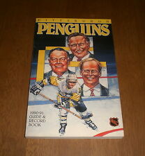 1990-91 PITTSBURGH PENGUINS MEDIA GUIDE & RECORD BOOK