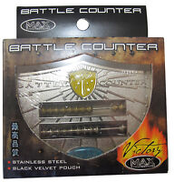 MAX PROTECTION Victory Series Batalla Counter Abacus Inoxidable Magia Tarjetero
