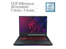 "ASUS ROG 17.3"" Gaming Laptop i7-9750H, GTX 1660 Ti, 32GB RAM, 1TB SSD+1TB HDD"