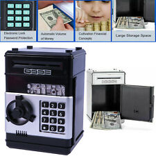 Electric Voice ATM Cash Counter Digital Moneybox Coin Piggy Money Bank Holder UK