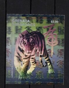 Grenada Grenadines - 1998 - Lunar New Year Of The Tiger - Hologram S/S - MNH