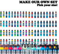 Fusion Tattoo Inks Authentic 5 Bottles MAKE YOUR SET 1 oz Pick Colors Original