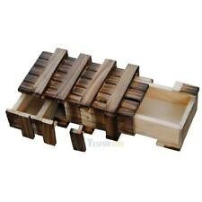 Chinese Vintage Classic Brain Magic Trick Wooden Puzzle Box Toy Hide Drawer Gift