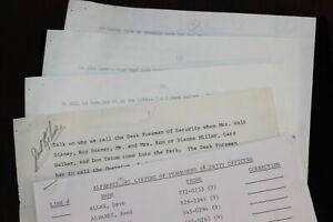 Disneyland Security Guard 1969 Training Documents HARBOR GATE Mrs Walt Disney