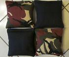 Quality Cornhole Bags, corn hole Limited Ed. Brown/Blk Camouflage Camo Set/8
