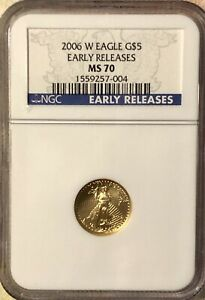 2006 W EARLY RELEASE $5 Gold American Eagle NGC MS70 - FREE SHIPPING