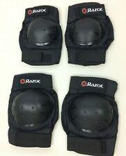 Razor Youth Multi-Sport Elbow & Knee Pads Black 8+ Skateboard Rollerblade Safety