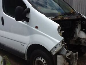 Vivaro Trafic Primastar 2001 to 2013 o/s drivers front white wing good condition
