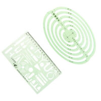 Plastic Chemical&Oval Drafting Drawing Ruler Geometric Template for Student