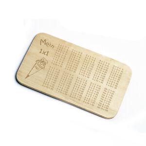 Frühstücksbrettchen Holz 1x1 Einmaleins Frühstücksbrett Mathematik Einschulung ✔