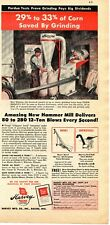 1947 Print Ad of Harvey Mfg Co Hammer Mill, Red Hed Corn Sheller, Farm Elevator