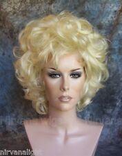 Curls Womans Drag Short Blonde/Black/Brown/Auburn U Choose Colour Wig/wigs
