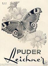 Puder Leichner Schmetterling Reklame Kriegsjahr 1942 Butterfly Parfum WK WW 2 Ad