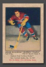 "Bernard ""BOOM BOOM"" Geoffrion, Rookie Reprint, Small size, #14, 1951-52 mint"