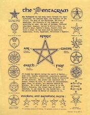 """Pentagram Poster  8 1/2"""" x 11""""  w/Protective Cover"""