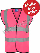 Mens Ladies High Viz Safety Reflective Work Vests. Hi Vis Protective Work Wear!
