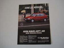 advertising Pubblicità 1991 SUBARU JUSTY i 4WD
