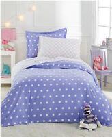 Martha Stewart Flannel Twin Duvet Cover Standard Sham GREEN PURPLE Kids Teen Bed