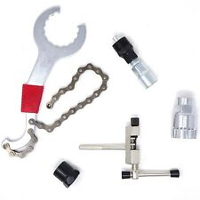Kit 5 strumenti riparazione manutenzione bici bicicletta spanner taglia catena
