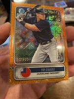 2020 Bowman Chrome Yu Chang Spanning The Globe Orange Mojo Refractor 14/25