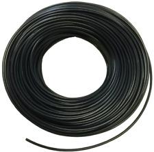 Multi-core, end-light fibre optic cable with black sheath