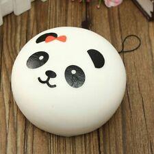10CM * JUMBO Panda Dim Sum Steamed Bun PINK/ RED BOW Super Squishy RANDOM STYLE