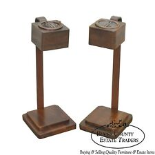 Art Deco Vintage Pair of Mahogany Smoke Stands Possibly Gilbert Rhode