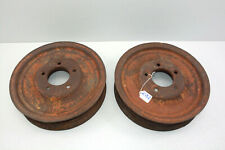 Gibson Model D Tractor Cast Iron Front Wheels Rare Rim Wheel Pair 12 Inch