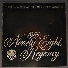 1985 Oldsmobile 98 Regency Catalog Brochure Ninety Eight Excellent Original 85