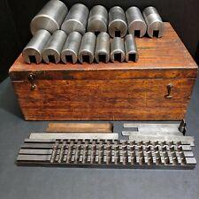 "DuMont No 4 Keyway Broach Set 1/2"" D 7/16"" 3/8"" 5/16"" 1-1/8""  2-15/16 Machinist"