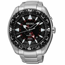 Seiko Kinetic X Prospex GMT Stainless Steel Black Dial Men's Watch (SUN049)