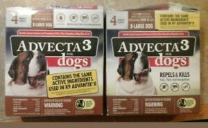 2 Advecta 3 for X-Large Dogs Over 55 lbs.8 Month Supply, READ DESCRIPTION