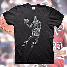 MICHAEL JORDAN T-Shirt Retro Bred Black White Poster Cement Air Bulls 1 3 11 4 5