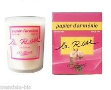 Bougie a la ROSE Le PAPIER D'ARMENIE  (Papier arménie)