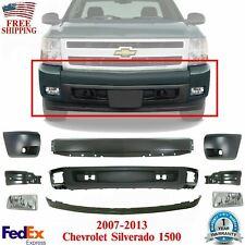 New Listingfront Bumper Primed Cover Valance Kit Fogs For 07 13 Chevy Silverado 1500 Fits 2013 Silverado 1500