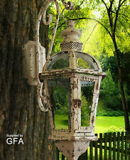Very ornate coach style candle Lantern, hurricane light, rustic beautiful piece