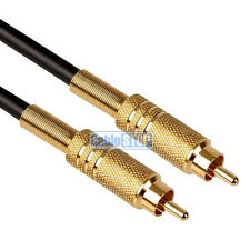 3M HQ PRO SUBWOOFER Cable RCA Phono PLUG to PLUG Lead GOLD