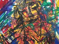 Original, Abstract, expressionism, figurative, collage, contemporary, Signed
