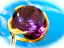 Vintage  14k yellow gold ladies Retro Mid Century Alexandrite ring s 6.75 15.5m