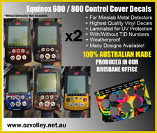 Equinox 600 / 800 Series Vinyl Decals x2 for Minelab Detectors - AU Ship Free