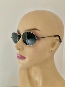 RAY-BAN Partly Oxidized Bronze Sporty Frame Oval Dark Gray Lens Sunglasses