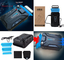 """USB Mini Vacuum Laptop Notebook Cooling Pad Stand Cooler Fan 15.6"""" 17 inch Blue"""