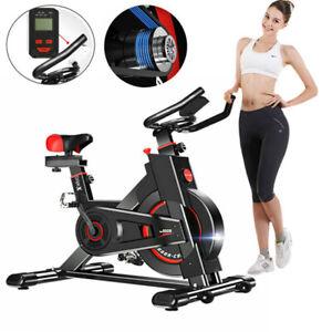 Heavy Duty Exercise Bike Racing Bicycle Cardio Adjustable Resistance LCD Display