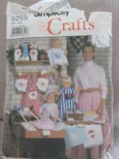 Simplicity 9269 Bib, Bottle Cover, Broom Cover, Mini Apron Craft Pattern Uncut