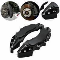 Black Car Wheel Brake Caliper Cover Front Rear Decorative Dust Resist Protection